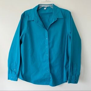 Port Authority Button Down Shirt Blue Extra Large